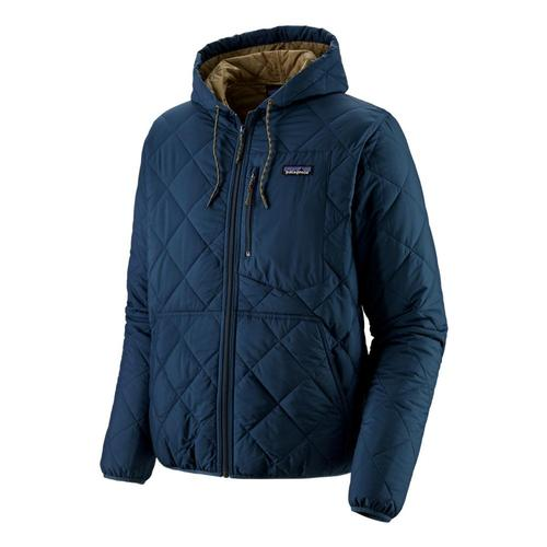 Patagonia Men's Diamond Quilted Bomber Hoody Blue_snbl
