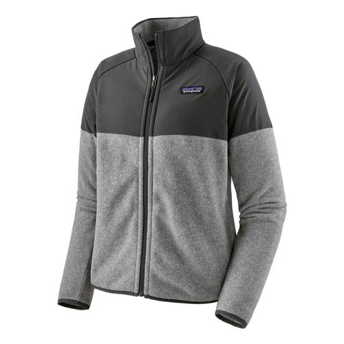 Patagonia Women's Lightweight Better Sweater Shelled Fleece Jacket Grey_fea