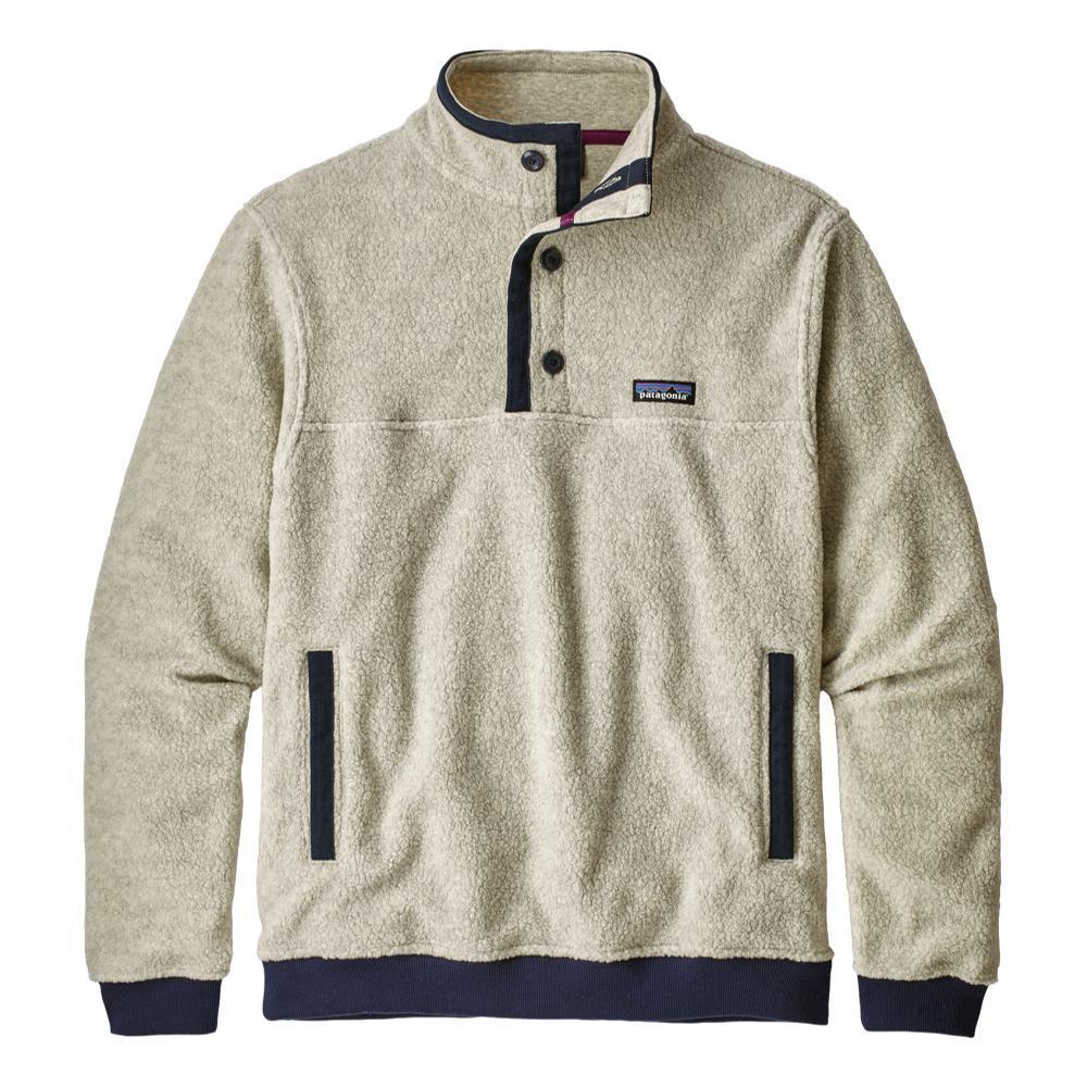 Patagonia Men's Shearling Fleece Button Pullover OATMEAL_OAT