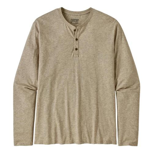 Patagonia Men's Long-Sleeved Organic Cotton Lightweight Henley Pullover White_bcw