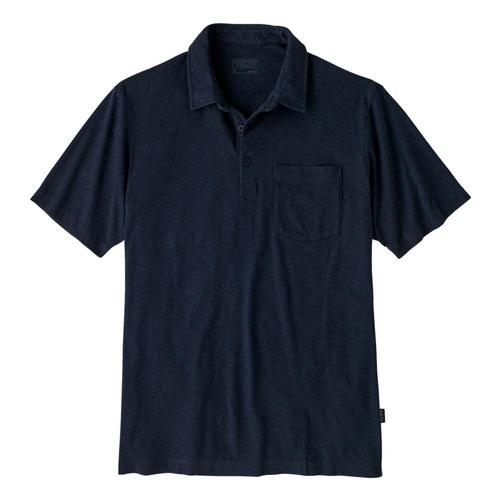 Patagonia Men's Organic Cotton Lightweight Polo Navy_nena
