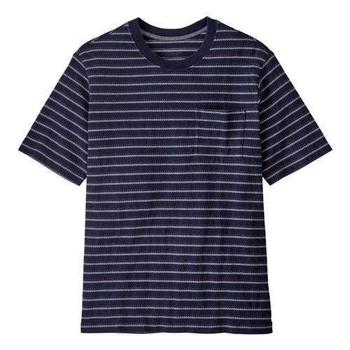 Patagonia Men's Organic Cotton Midweight Pocket Tee Navy_conn