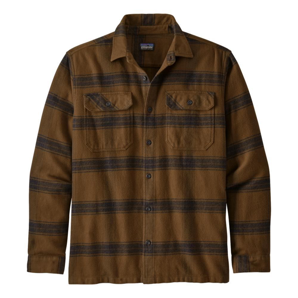 Patagonia Men's Long-Sleeved Fjord Flannel Shirt BROWN_BUOB