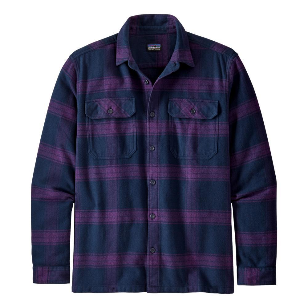 Patagonia Men's Long-Sleeved Fjord Flannel Shirt PURPLE_BUPU