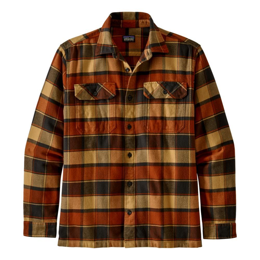 Patagonia Men's Long-Sleeved Fjord Flannel Shirt RED_PBRD