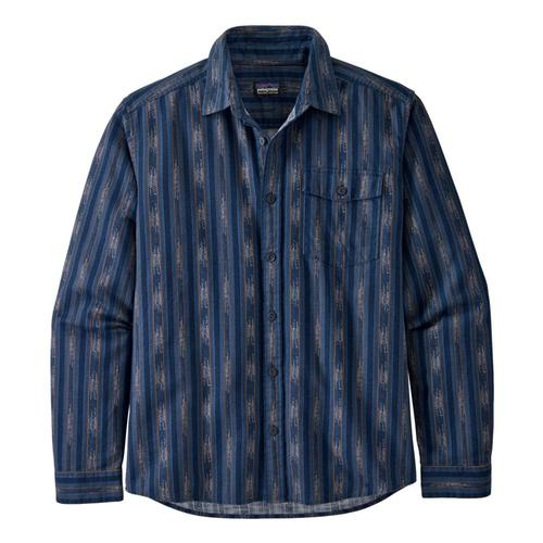 Patagonia Men's Long-Sleeved Lightweight Fjord Flannel Shirt Blue_irsb