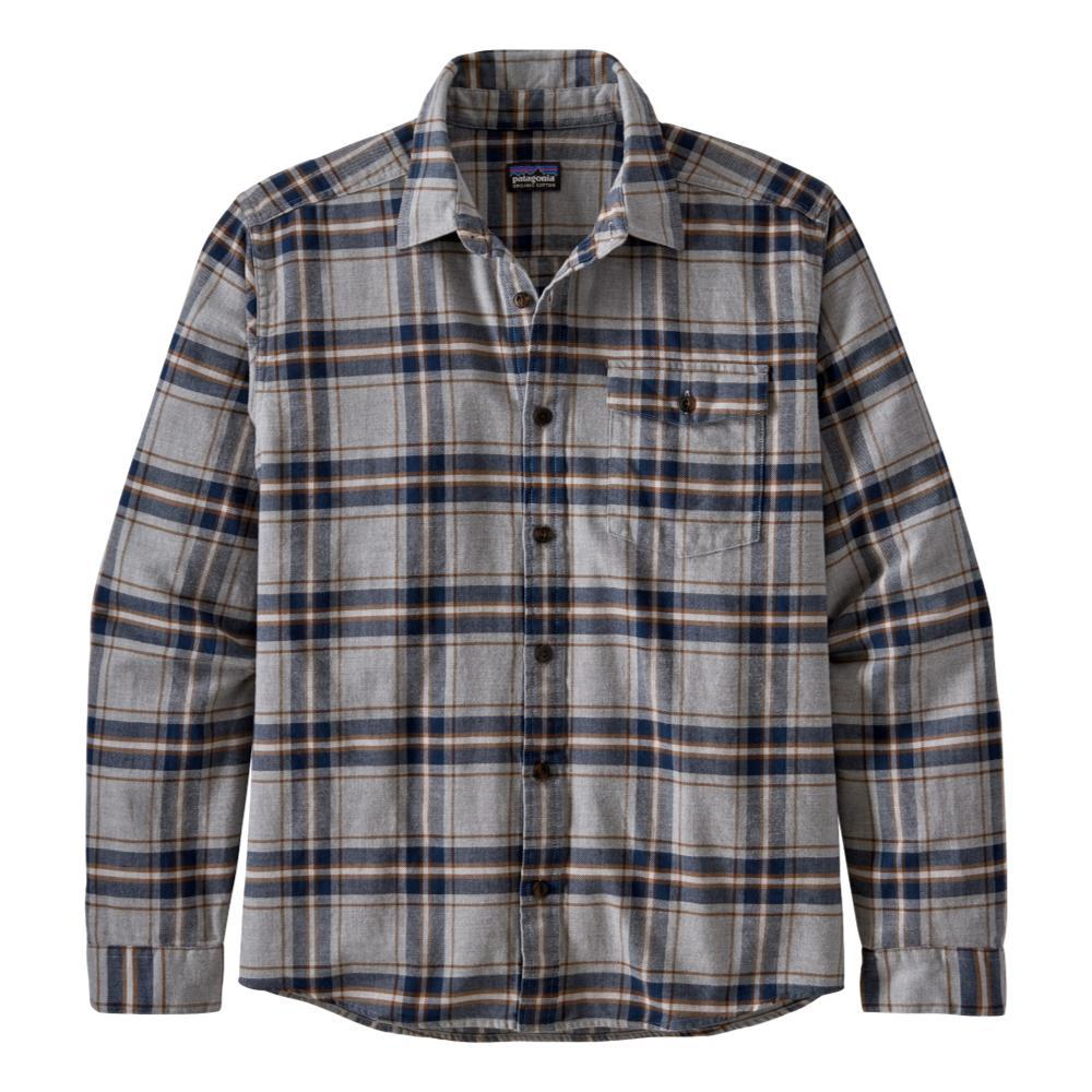 Patagonia Men's Long-Sleeved Lightweight Fjord Flannel Shirt GREY_LSGY