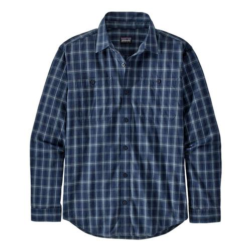 Patagonia Men's Long-Sleeved Organic Pima Cotton Shirt Blue_brsb