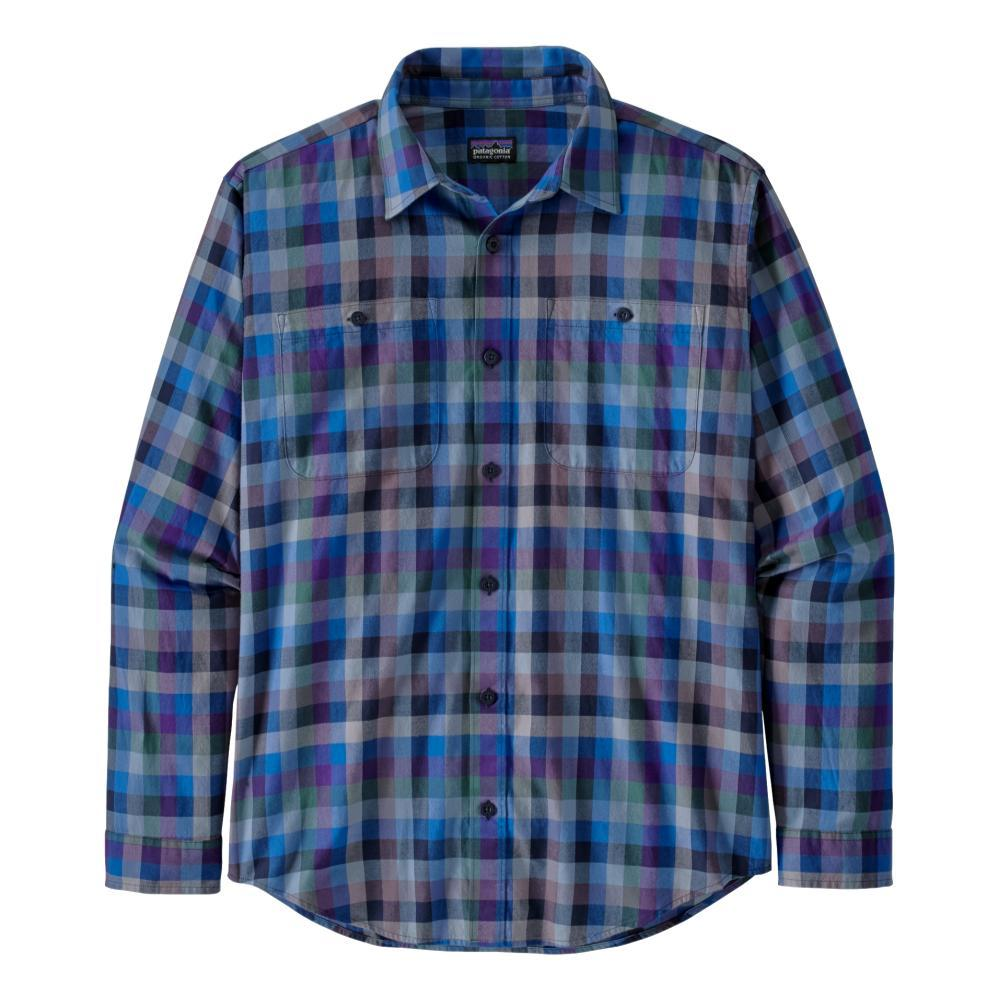 Patagonia Men's Long-Sleeved Organic Pima Cotton Shirt BLUE_GABL