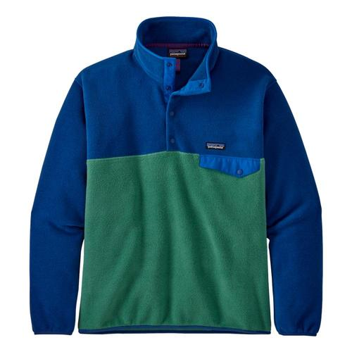 Patagonia Men's Lightweight Synchilla Snap-T Fleece Pullover Green_eelg