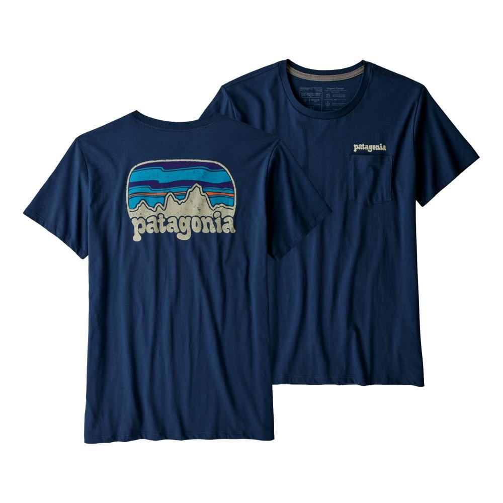 Patagonia Women's Fitz Roy Far Out Organic Cotton Crew Pocket T-Shirt SNBL
