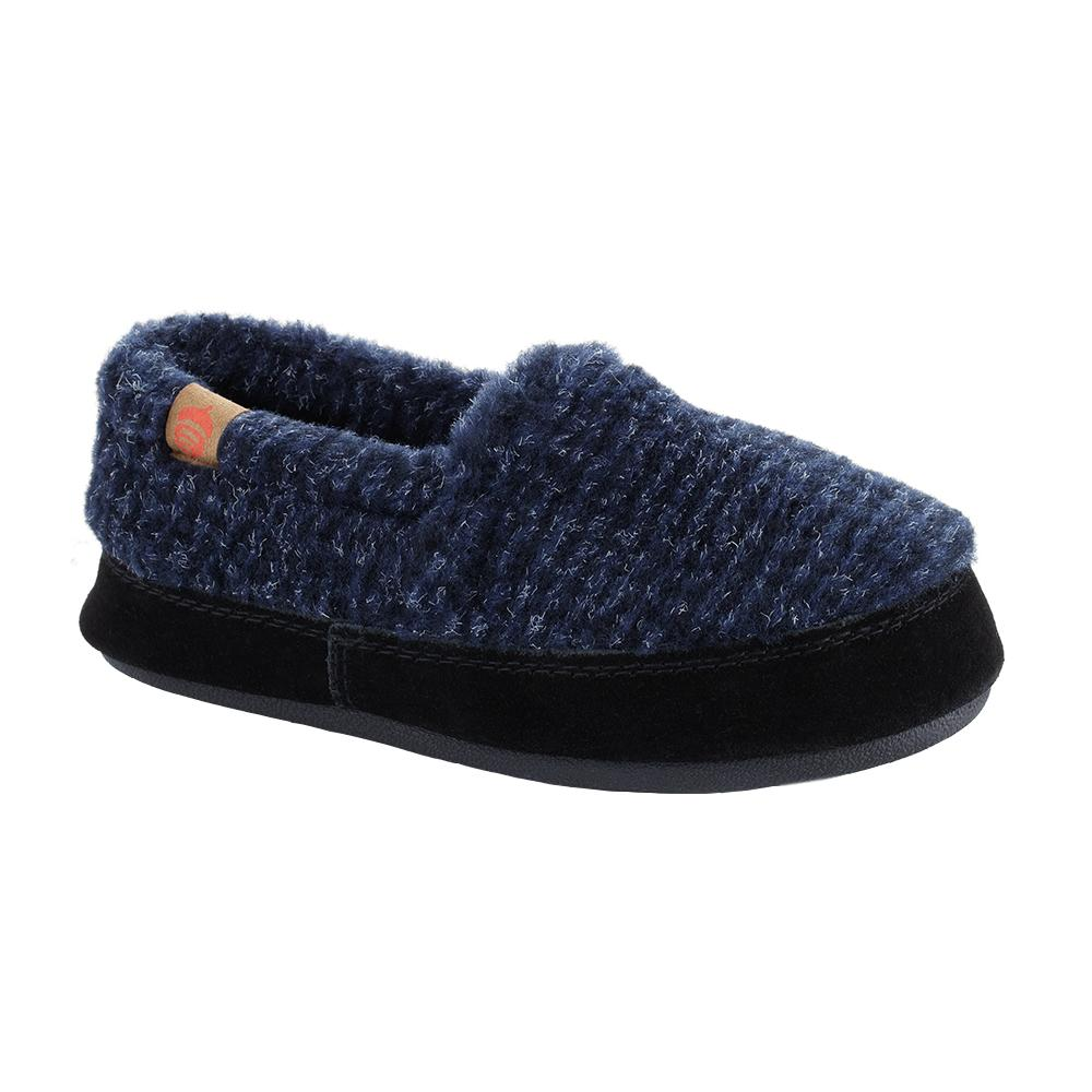 Acorn Kids Original Moccasin Slippers BLUECHECK