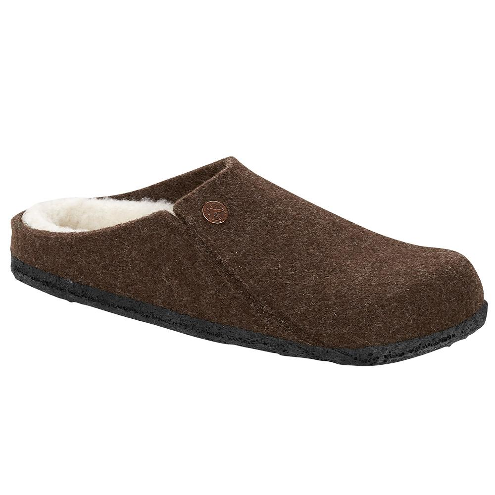 Birkenstock Men's Zermatt Wool Felt Slippers - Regular MOCHA