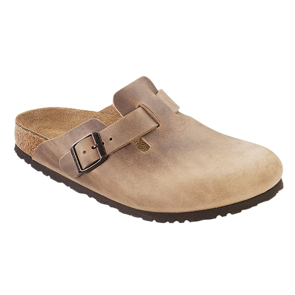 Birkenstock Women's Boston Soft Footbed Oiled Leather Clogs - Regular TOBACCO.OL