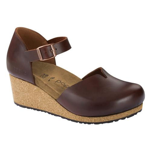 Birkenstock Papillio Women's Mary Natural Leather Clogs - Narrow Cognac