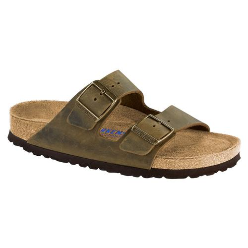 Birkenstock Women's Arizona Soft Footbed Oiled Leather Sandals - Narrow Jade.Ol