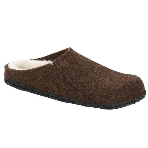 Birkenstock Women's Zermatt Wool Felt Slippers - Narrow Mocha