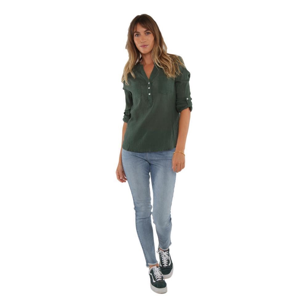 Carve Designs Women's Dylan Gauze Shirt HUNTER_311