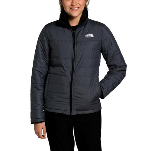 The North Face Women's Mossbud Insulated Reversible Jacket Grey_f9l