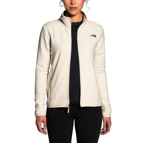 The North Face Women's TKA Glacier Full-Zip Jacket White_k82