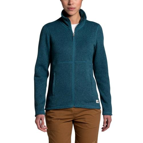 The North Face Women's Crescent Full Zip Fleece Blue_ry8