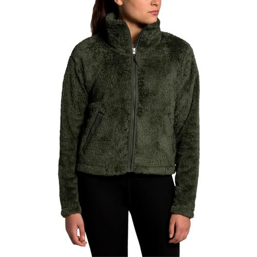 The North Face Women's Furry Fleece 2.0 Jacket Green_21l