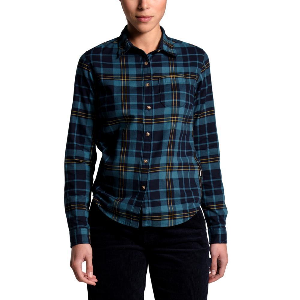 The North Face Women's Berkeley Long Sleeve Girlfriend Shirt NAVY_TQF