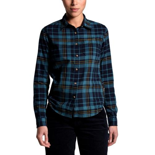 The North Face Women's Berkeley Long Sleeve Girlfriend Shirt Navy_tqf