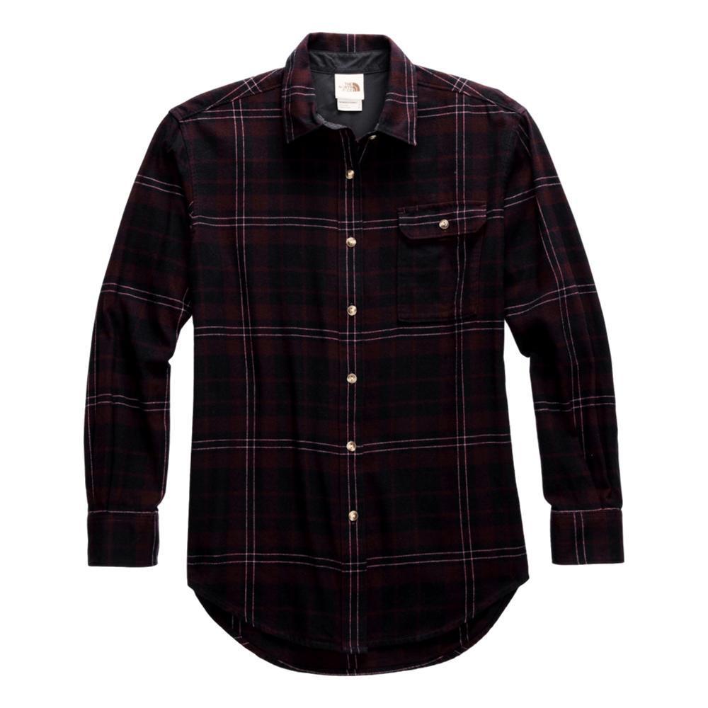 The North Face Women's Berkeley Long Sleeve Boyfriend Shirt BROWN_TR3