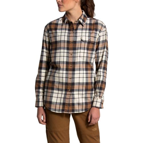The North Face Women's Berkeley Long Sleeve Boyfriend Shirt White_tr6