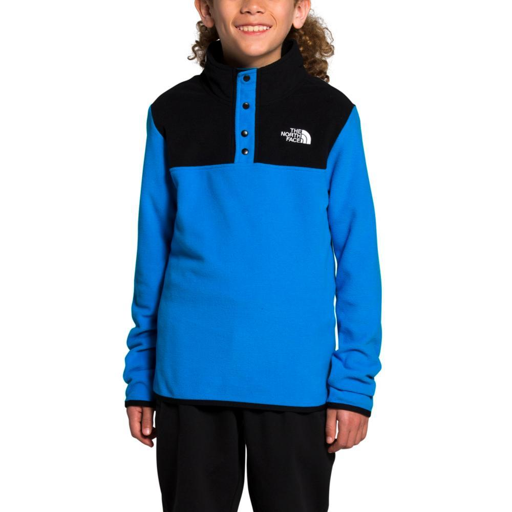 The North Face Youth Glacier 1/4 Snap Pullover LKBLUE_W8G