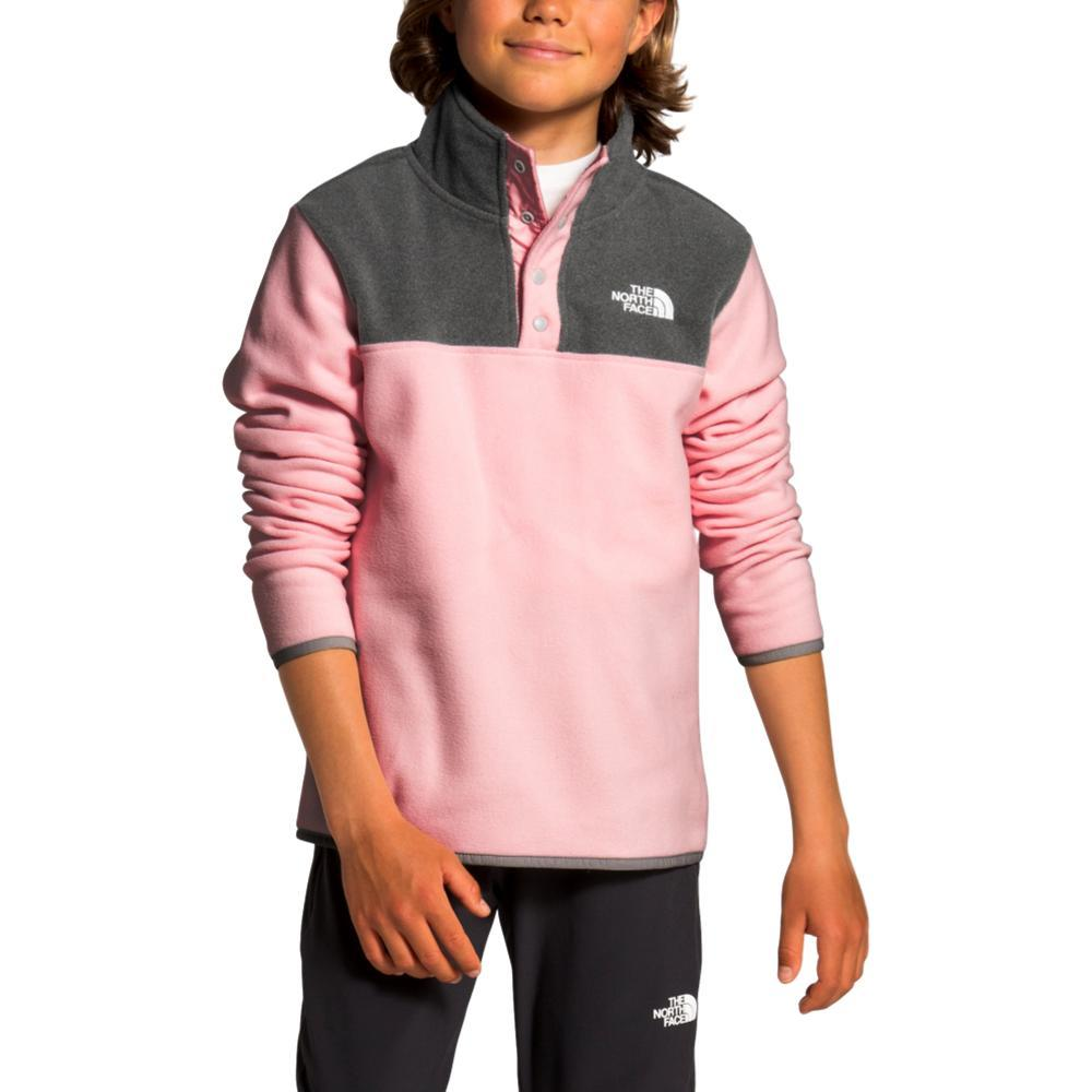 The North Face Youth Glacier 1/4 Snap Pullover PINK_8ED