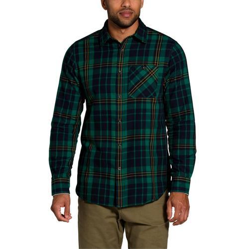 The North Face Men's Long Sleeve Hayden Pass 2.0 Shirt Green_tw9