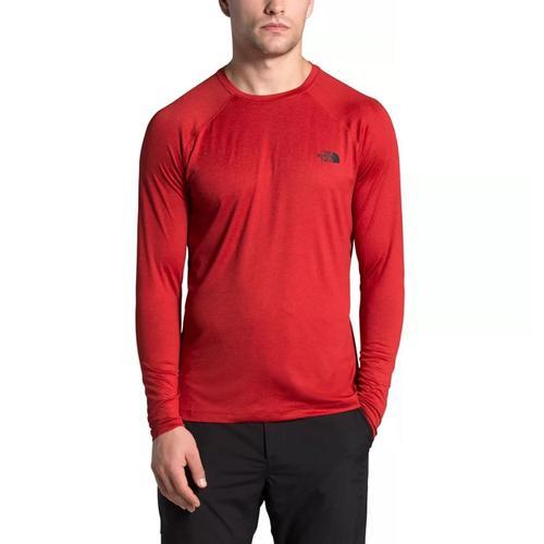 The North Face Men's Hyperlayer FD Long Sleeve Shirt Red_hk8