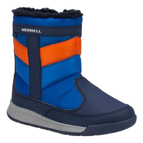 Merrell Big Kids Alpine Puffer WP Boots Navyorng