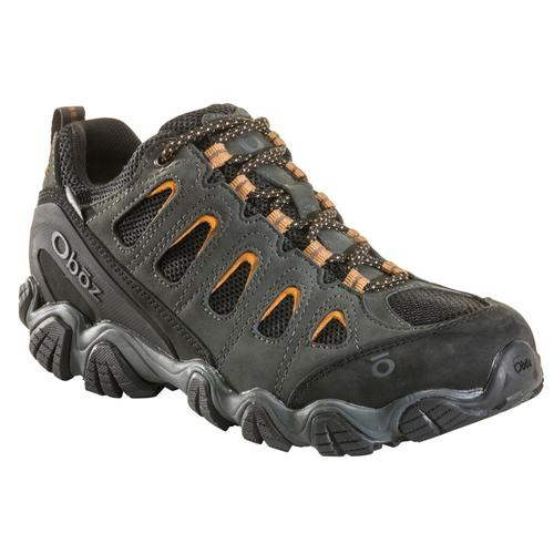 Oboz Men's Sawtooth II Low B-DRY Waterproof Hiking Shoes - Wide Shadw.Burl