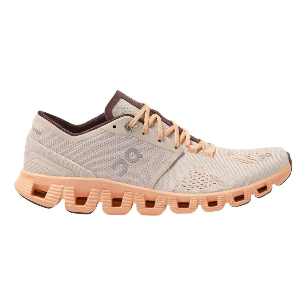 On Women's Cloud X Running Shoes SILVR.ALMD