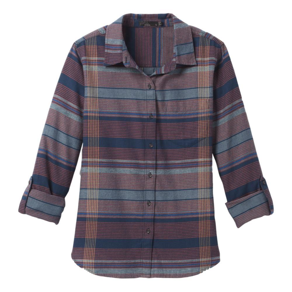 prAna Women's Alfie Flannel Top NOCTURNAL