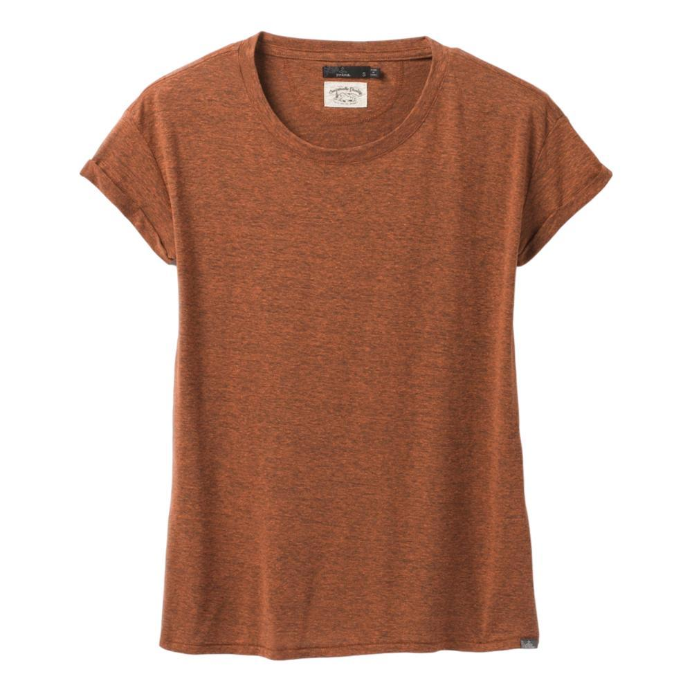 prAna Women's Cozy Up T-Shirt Plus CEDARHTHR