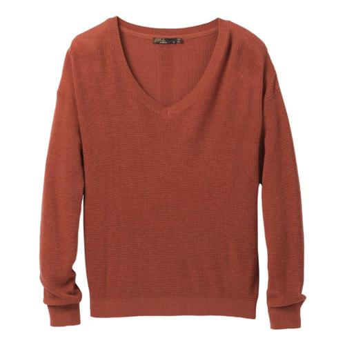 prAna Women's Milani V-Neck Sweater Plus Sundried