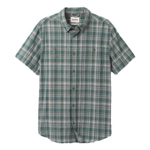 prAna Men's Watchman Shirt Peacock