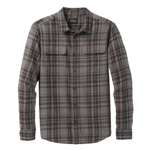 prAna Men's Edgewater Long Sleeve Shirt Granitehthr