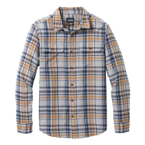 prAna Men's Edgewater Long Sleeve Shirt Ltgreyhthr