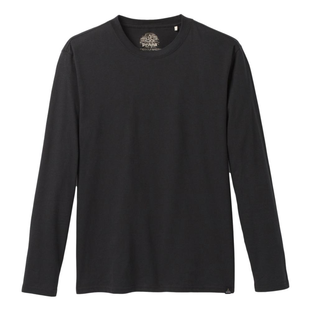 prAna Men's Long Sleeve T-Shirt BLACK