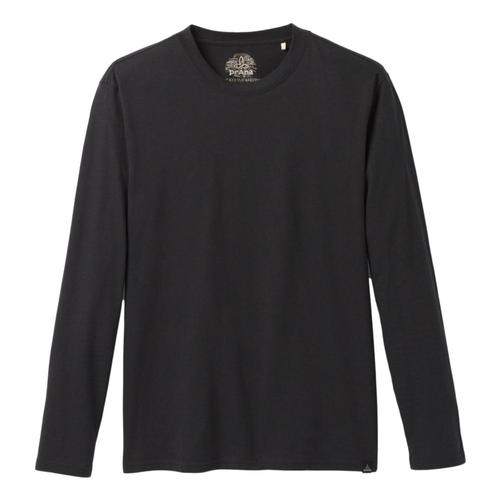 prAna Men's Long Sleeve T-Shirt Black