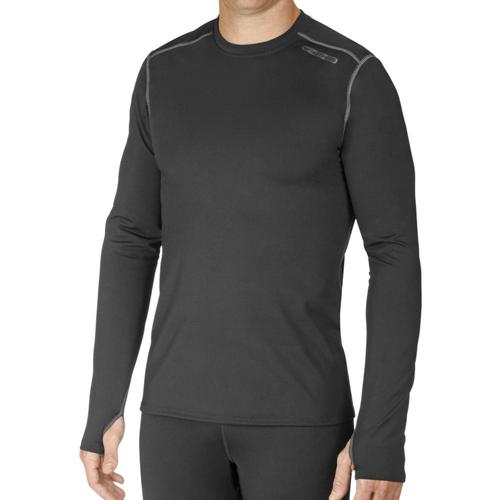 Hot Chillys Men's Micro-Elite Chamois Crewneck Black_101