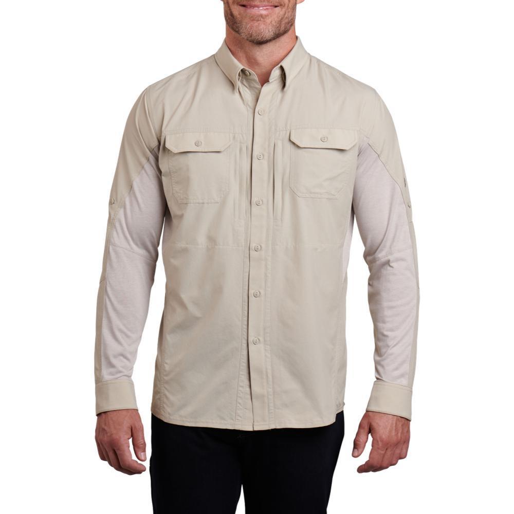 KUHL Men's Airspeed Long Sleeve Shirt LTKHAKI