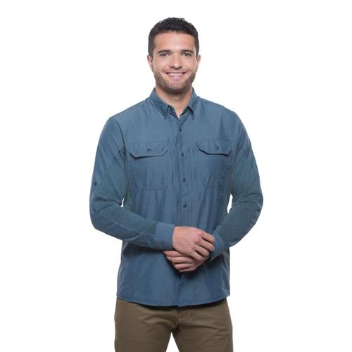 KUHL Men's Airspeed Long Sleeve Shirt Pirateblue