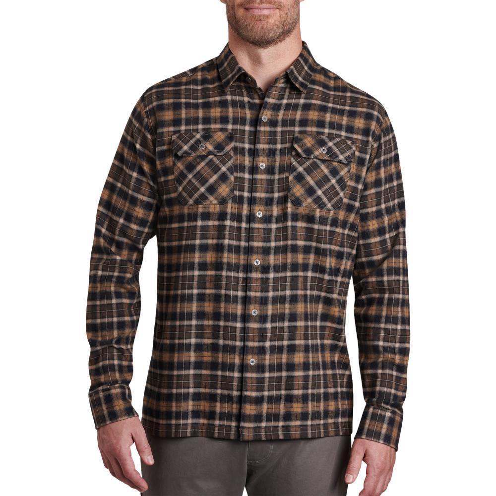 KUHL Men's Dillingr Long Sleeve Flannel Shirt DRKEARTH