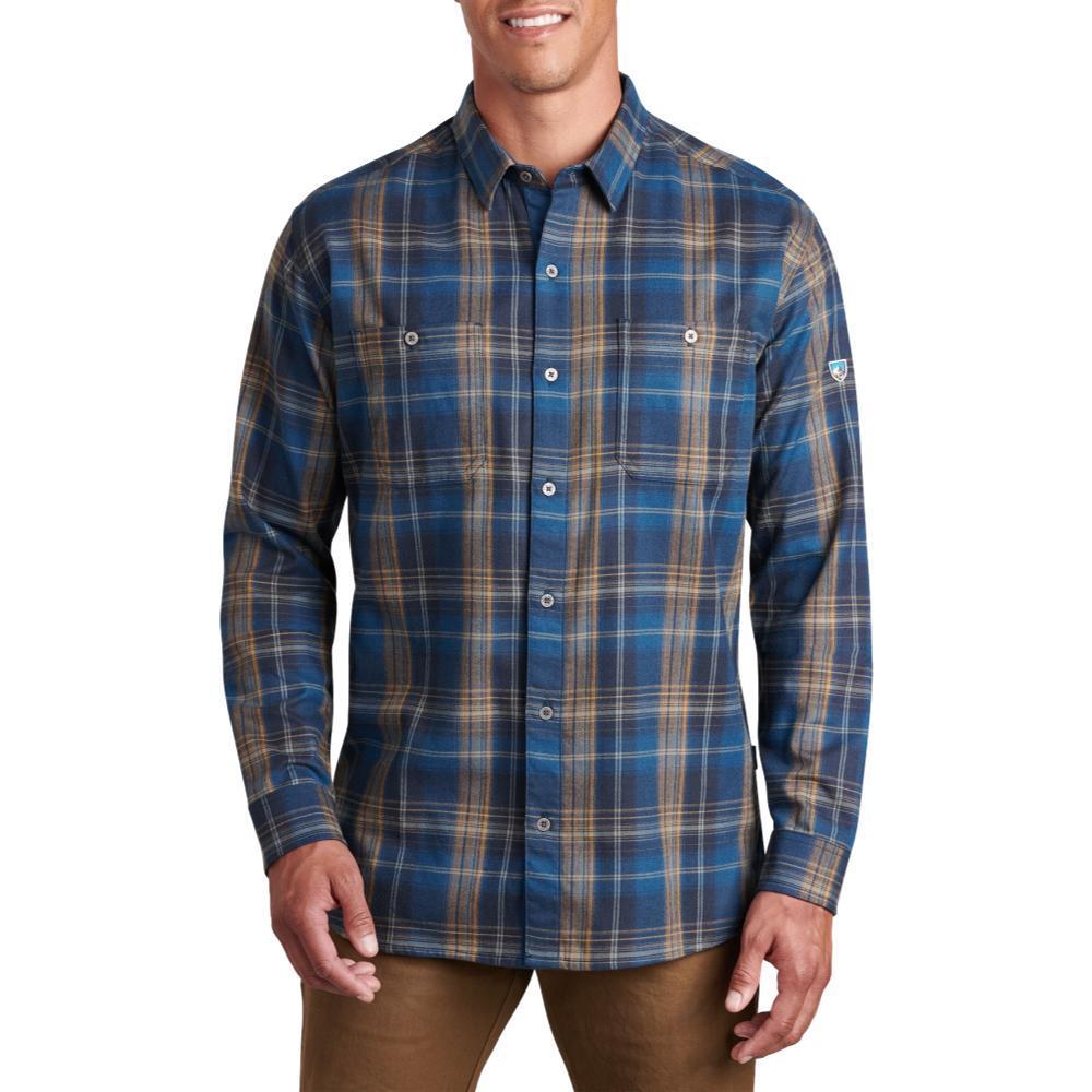 KUHL Men's Fugitive Flannel Long Sleeve Shirt BLUECOPPER